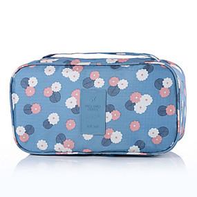 94e2b8a4b5e66 منظم السفر   منظم أغراض السفر   حقيبة أدوات تجميل للسفر سعة كبيرة   المحمول    تخزين السفر إلى الصدرية   ملابس نايلون   ورد