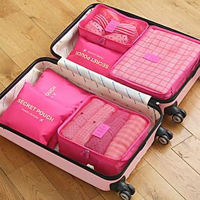 Χαμηλού Κόστους Ταξίδια-6 σύνολα Τσάντα ταξιδιού / Οργανωτής ταξιδιών / Αξεσουάρ ταξιδίου και αποσκευών Μεγάλη χωρητικότητα / Φορητό / Πτυσσόμενο ΣΟΥΤΙΕΝ / Ρούχα Oxford Πανί Για Υπαίθρια Χρήση / Ταξίδια / Για το Σπίτι