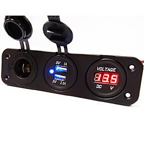 tanie Ładowarki samochodowe-Ładowarka samochodowa lossmann 2 porty USB do szybkiego ładowania 5 v