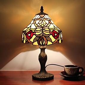 billige Tiffany Lamper-Flerskjerms Tiffany / Rustikk / Hytte / Original Skrivebordslampe Harpiks Vegglampe 110-120V / 220-240V 25W