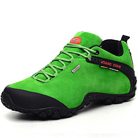 cheap Men's Athletic Shoes-Men's Canvas / Cowhide Spring / Fall Comfort Athletic Shoes Hiking Shoes Black / Green / Light Brown