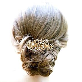 abordables Joyería para Boda y Fiesta-Legierung Peines de pelo / Para la Cabeza con Flor 1pc Boda / Ocasión especial Celada