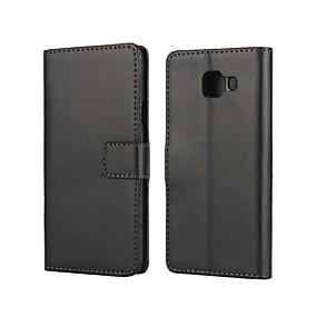 hesapli Cep Telefonu Kılıfları-Pouzdro Uyumluluk Samsung Galaxy A3(2016) Kart Tutucu / Satandlı / Flip Tam Kaplama Kılıf Solid PU Deri