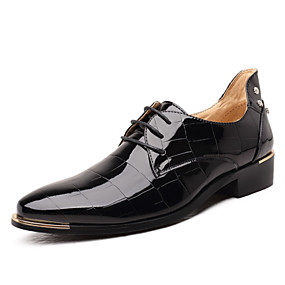 cheap Men's Shoes-Men's Formal Shoes Microfiber Spring / Fall Business Oxfords Black / Red / Royal Blue / Wedding / Party & Evening / Lace-up / Party & Evening / Comfort Shoes