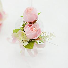 """baratos Flores-Bouquets de Noiva Alfinetes de Lapela / Decoração de Casamento Original Ocasião Especial / Festa / Noite Algodão 5.51""""(Aprox.14cm)"""