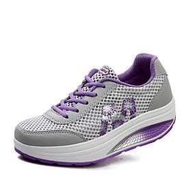 baratos Sapatos Esportivos Femininos-Mulheres Tule Primavera / Verão / Outono Conforto Fitness Plataforma Cadarço Roxo / Verde / Rosa claro / EU37