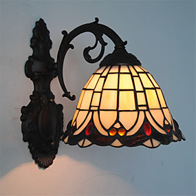 billige Tiffany Lamper-Tiffany Vegglamper Metall Vegglampe 110-120V / 220-240V Max 60W