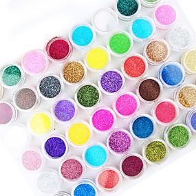 baratos Glitter para Unhas-1conjunto 45pcs Pó Solto / Pó Glitters / Abstracto Suits
