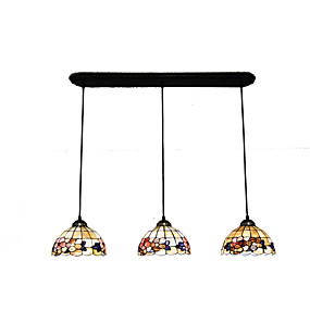 baratos Luzes Tiffany-3-luz Luzes Pingente Luz Descendente Outros Metal Concha Estilo Mini 110-120V / 220-240V Lâmpada Não Incluída / E26 / E27