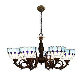 billige Tiffany Lamper-Lysekroner Omgivelseslys - LED designere, Tiffany, 110-120V 220-240V, Gul, Pære ikke Inkludert