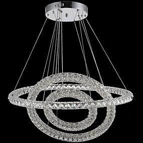 abordables Plafonniers-Lampe suspendue Lumière d'ambiance Plaqué Métal Cristal, LED 110-120V / 220-240V Blanc Crème / Blanc Neige Source lumineuse de LED incluse / LED Intégré