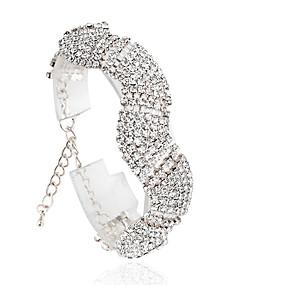baratos Jóias-Mulheres Tênis Pulseiras Fashion Liga Pulseira de jóias Prata / Dourado Para Casamento