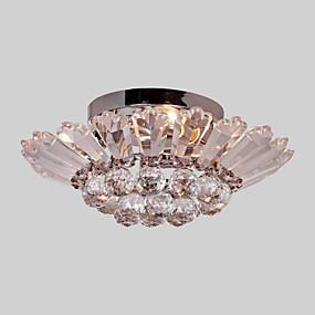 povoljno Na rasprodaji-3-Light Flush Mount Ambient Light Anodized Electroplated Metal Crystal 110-120V / 220-240V Bulb not included