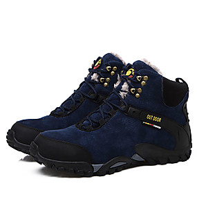 baratos Botas Masculinas-Homens Tecido Outono / Inverno Conforto Botas Preto / Azul Escuro