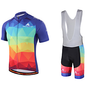 9375522d4f Χαμηλού Κόστους Άθληση και ύπαιθρος-Miloto Ανδρικά Κοντομάνικο Αθλητική  φανέλα και σορτς ποδηλασίας - Μαύρο