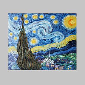 abordables Tableaux de Van Gogh-Peinture à l'huile Hang-peint Peint à la main - Célèbre Contemporain Inclure cadre intérieur / Toile tendue