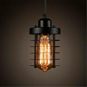 billige Hengelamper-Sylinder Anheng Lys Omgivelseslys Malte Finishes Metall Mini Stil, LED, designere 110-120V / 220-240V Pære Inkludert / E26 / E27