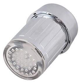 billige Rabatt Kraner-ledet vannkran lette fargerike skiftende glød dusjhode kjøkkenkraner