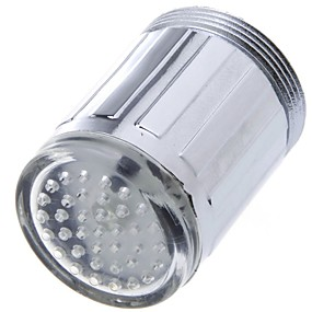 billige Rabatt Kraner-ledet vann kranett lyseblå glød dusjhode kjøkkenkran belysningsapparater