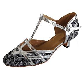 abordables Chaussures de Danse-Femme Chaussures Modernes Paillette Brillante Sandale Talon Personnalisé Personnalisables Chaussures de danse Noir / Rouge / Marron / Intérieur / Utilisation / Entraînement / Professionnel