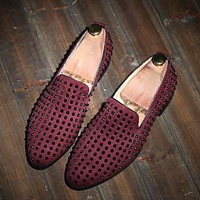 baratos Sapatilhas e Mocassins Masculinos-Homens Sapatos Confortáveis Couro Verão Mocassins e Slip-Ons Preto / Azul / Vinho