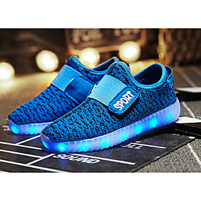 cheap Kids' Shoes-Boys' Knit Athletic Shoes Little Kids(4-7ys) / Big Kids(7years +) Comfort / Light Up Shoes LED Green / Blue / Pink Fall / TR