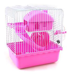 povoljno Oprema za male životinje-Glodavci / Hrčak plastika Kavezi Braon / Plava / Pink