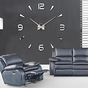 cheap 30% OFF-Super Big DIY Wall Clock AcrylicEVRMetal Mirror Super Big Personalized Digital Watches Clocks