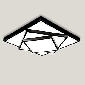 tanie Mocowanie przysufitowe-52cm geometryczny wzór designerski nowoczesny styl prostota lampa sufitowa led metalowa podtynkowa salon sypialnia światło