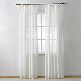 "cheap Sheer Curtains-Custom Made Eco-friendly Curtains Drapes Two Panels 2*(72W×63""L) / Jacquard / Bedroom"