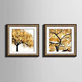 povoljno Trends-Uokvireno platno Uokvireni set Cvjetni / Botanički Wall Art, PVC Materijal s Frame Početna Dekoracija Frame Art Stambeni prostor Spavaća