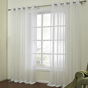 "cheap Sheer Curtains-Custom Made Sheer Sheer Curtains Shades Two Panels 2*(72W×84""L) / Jacquard / Bedroom"