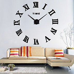 6a9914c9f Large Roman Wall Clock Acrylic Mirror Diy Clocks Home Decoration Living  Room Wall Stickers Modern Design