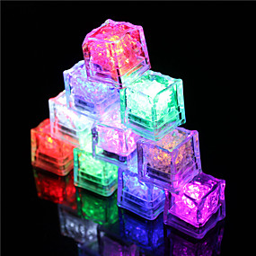 cheap Holiday Party Decorations-12Pcs Color Changing Ice Cubes Led Light Party Wedding Christmas Bar Restaurant