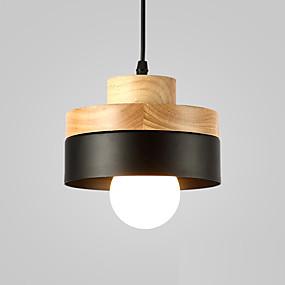billige Hengelamper-Nord-Europa enkelhet moderne tre anheng lett metall skygge stue spisestue kafé belysning