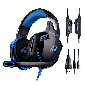 voordelige Gaming-Over Oor / Hoofdband Bekabeld Hoofdtelefoons Muovi Gaming koptelefoon HIFI / Met volumeregeling / met microfoon koptelefoon