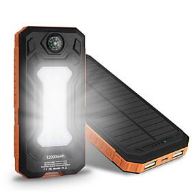 povoljno Snaga banke-10000 mAh Za Eksterna baterija Power Bank 5 V Za 1 A / 2 A Za Punjač Multi-izlaz / Solarno punjenje / Automatska prilagodba struje