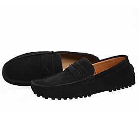 baratos Sapatilhas e Mocassins Masculinos-Homens Sapatos formais Camurça Casual Mocassins e Slip-Ons Preto / Azul Marinho / Verde / Ao ar livre / Escritório e Carreira / Loafers de conforto / EU40