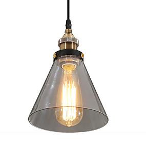 abordables Plafonniers-Cône Lampe suspendue Lumière dirigée vers le bas Bronze Métal Verre Designers 110-120V / 220-240V Jaune Ampoule non incluse / E26 / E27