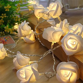 cheap $5.99-10Led Rose Flower String Strip Fairy Lights For Holiday Wedding Decor Light Powered By Aa Battery (Not Include)