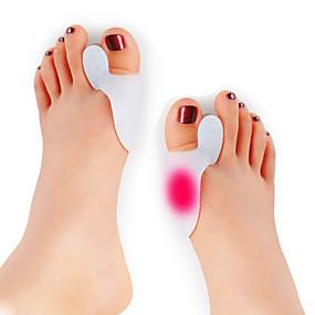 cheap Health & Personal  Care-1-pair-silicone-feet-care-toe-separator-big-toe-bone-bunion-shield-hallux-valgus-splint-spreader-pro-protector-corrector-alignment-foot-massager
