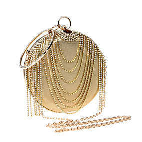 preiswerte Abendtasche-Damen Strass Abendtasche Strass Kristall Abendtaschen Polyester / PU Gold