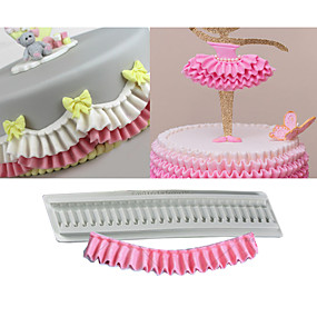 billige Bakeformer-1pc Silikon Gummi Silikon Non-Stick baking Tool Bursdag Kake Cake Moulds Bakeware verktøy