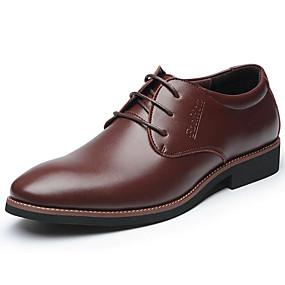 저렴한 남성용 옥스포드-남성용 구두 가죽 봄 / 가을 사업 옥스포드 캐쥬얼 / 사무실 및 경력 용 레이스-업 블랙 / 브라운 / 공식 신발 / 편안한 신발 / EU40
