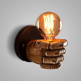 billige Vegglamper-Rustikk / Hytte / Antikk / Vintage Vegglamper Harpiks Vegglampe 110-120V / 220-240V 60W