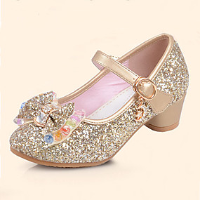 cheap Kids' Shoes-Girls' Shoes Leatherette Spring & Summer Comfort / Flower Girl Shoes Flats Sequin / Buckle for Silver / Blue / Pink / TPR (Thermoplastic Rubber)