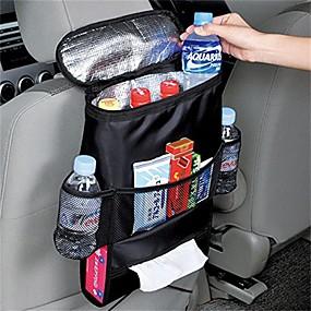 billige Lagring og oppbevaring-1pc bilsete multifunksjon bil-bakpute kjøretøy oppbevaringspose dagligvareposer svart