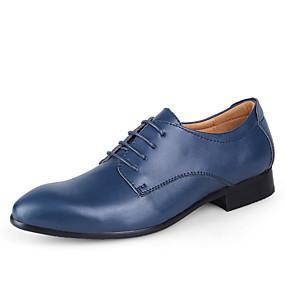 abordables Oxfords pour Homme-Homme Chaussures habillées Cuir Printemps / Automne Business Chaussures de mariage Marron foncé / Bleu / Brun claire / Mariage