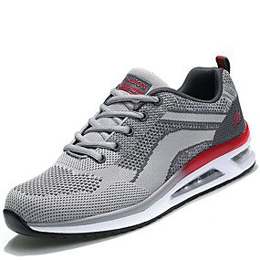 cheap Running Shoes-Men's Light Soles Mesh / PU(Polyurethane) Spring / Fall Comfort Athletic Shoes Gray / Red / Black / Red