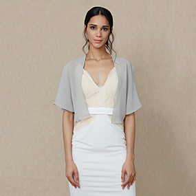 cheap New Arrivals-Chiffon Wedding / Party / Evening Women's Wrap With Shrugs